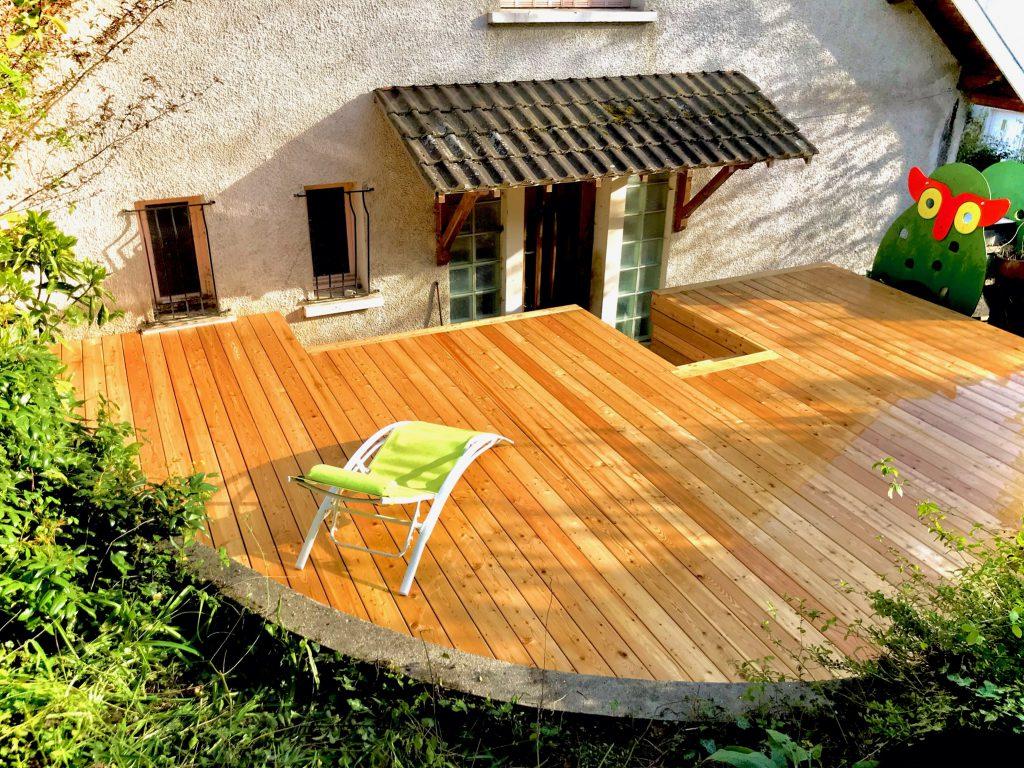 Terrasse arrondie_2 - Ambiance Bois - 73 - Savoie - Maison Ossature Bois - MOB